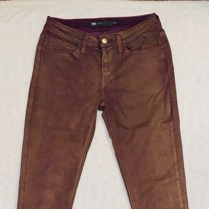 Levi's Purple Jeans Gold Painted Skinnies
